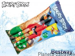 BESTWAY DMUCHANY MATERAC ANGRY BIRDS 119 CM